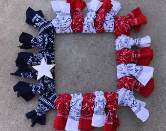 Red, white, and blue wreath!