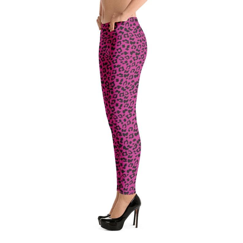 Leggings With Leopard Print Sports Yoga Leggings Animal skin print All Over Grey Yoga Pants Pink Leopard Print Leggings