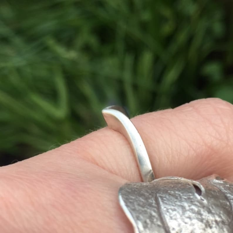 Vintage Chevron Ring Sterling Silver Ring V ring UK size N US size 6.5 Silver Jewellery Vintage Jewelry Vintage silver