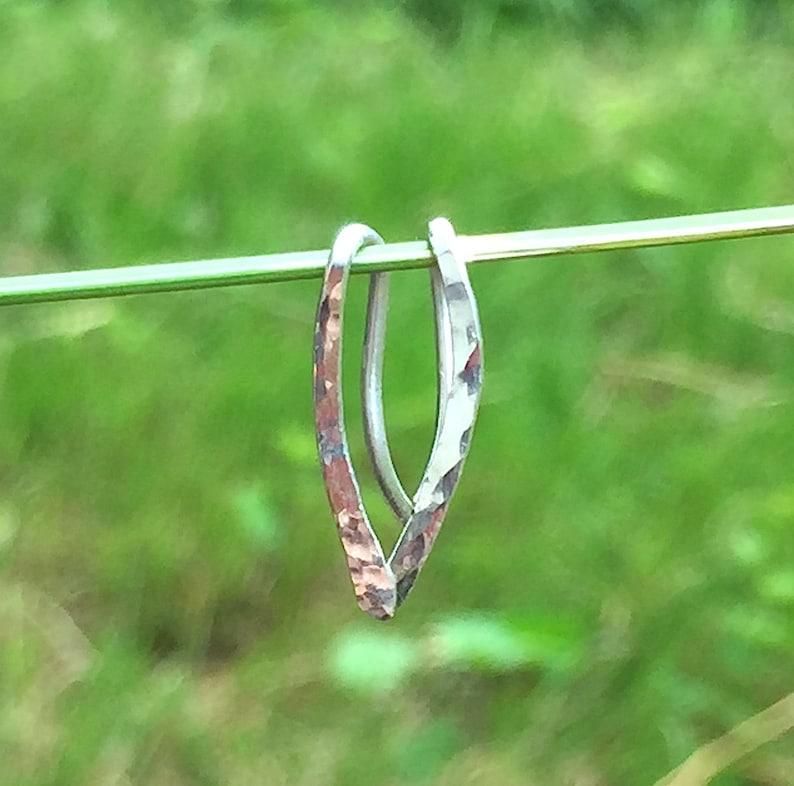 Ear Cuff Silver Ear Climber Earrings Ear Crawler Hammered Sterling Silver Wire Ear Wrap Ear Climbers Minimalist Silver Eco Friendly Jewelry