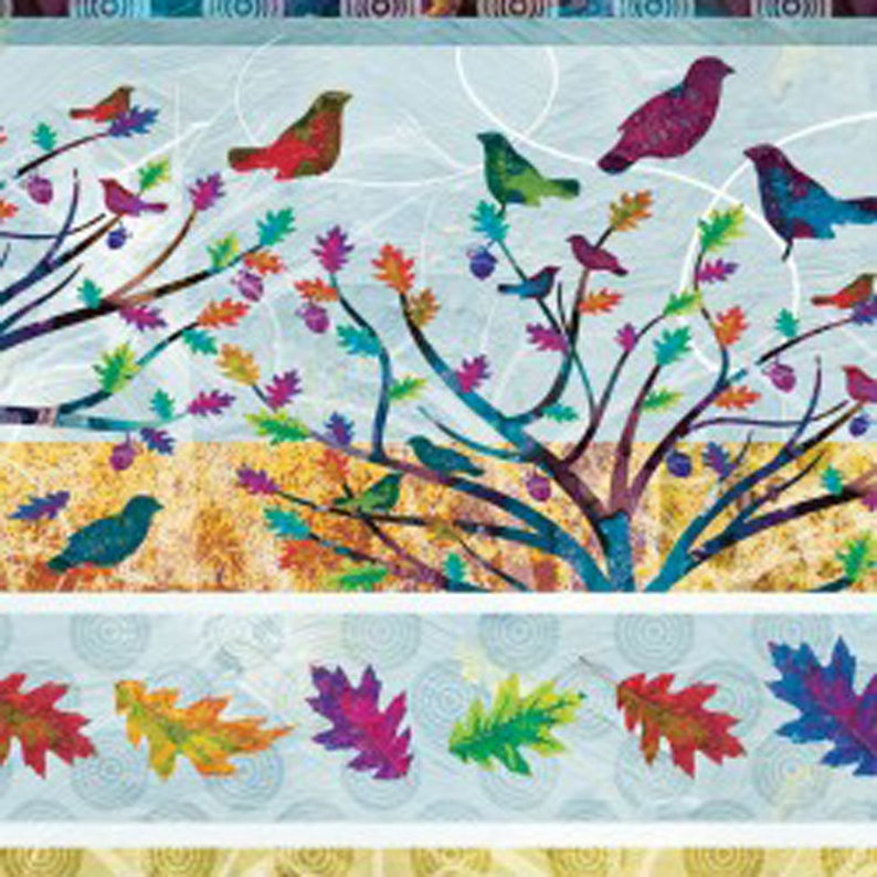 Includes 10 FQs Alexa Kate Design for Studio e 1 Panel and 1 yd of Border Print 11 wide Autumn Hues Fabric Bundle