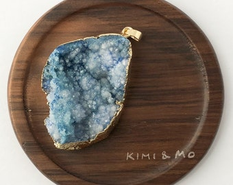 Druzy Necklace // Druzy Pendant // Crystal Necklace // Crystal Pendant // Gift for Mom
