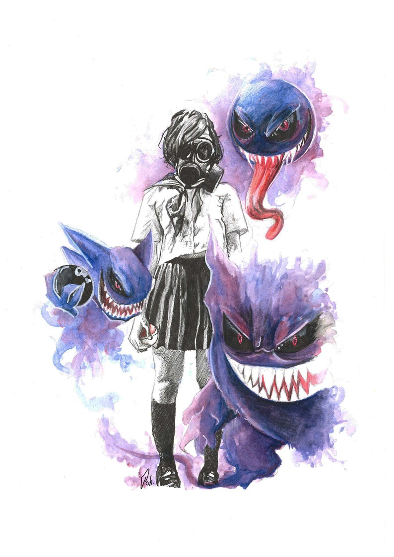 18ab8587 Art Lavender town party Gastly/Haunter/geek chic Gengar | Etsy