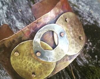 Rustic copper cuff ( Sold )