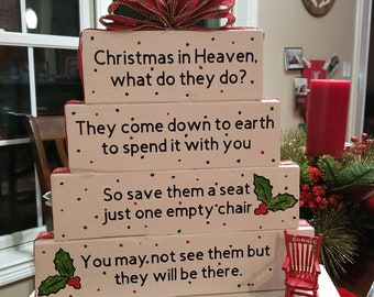 Christmas in Heaven Poem Sign