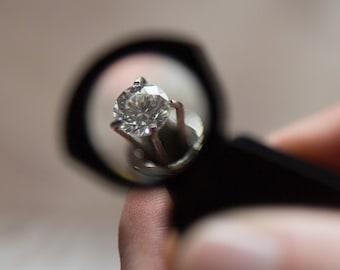 0.25 Carat Round Cut Lab Created Diamond (HTHP)