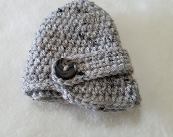 Crochet Newsboy cap