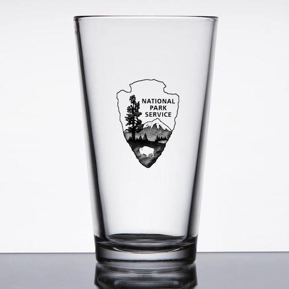 National Park Service Theme Printed Pint Glass