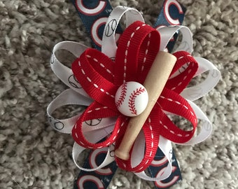 Chicago Cubs hairbow
