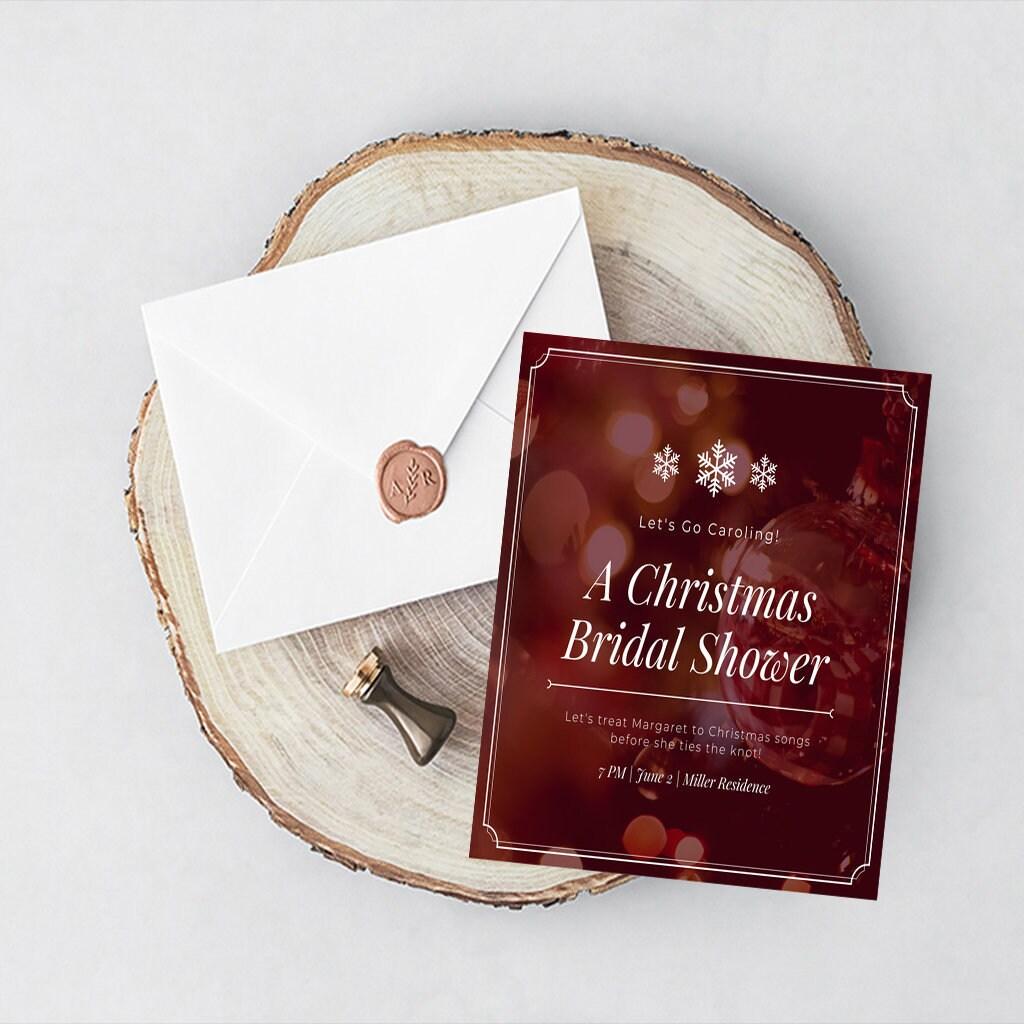 Bridal shower Burgundy Invitation Instant Download Couples | Etsy