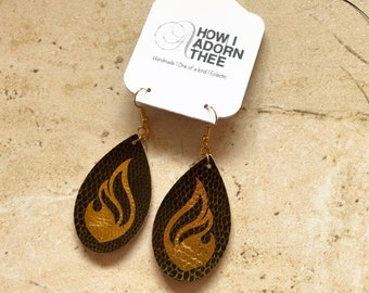 Graphic Flame Earrings