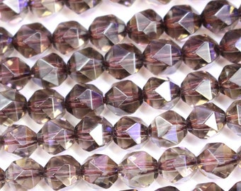 Faceted Natural  Color Smoky Quartz Round for jewelry making gemstone beads   6mm   8mm 10mm  available