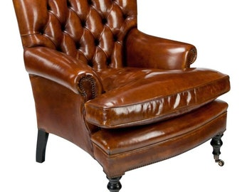 Charmant Chesterfield Armchair  Vintage Armchair   Bedroom Furniture   Living Room  Furniture   Office Furniture   60s Furniture