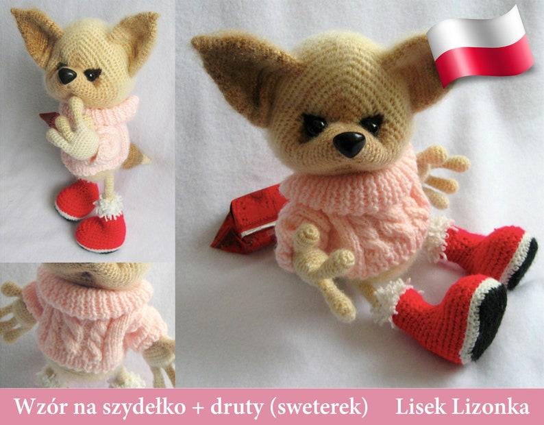 216PLM Wzór na szydełko i druty sweter  Lisek Lizonka  image 0