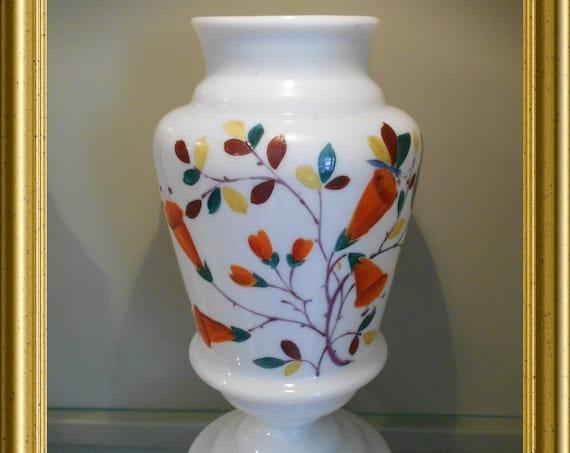 Antique opaline glass vase