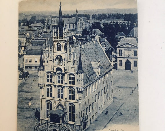 Antique Dutch postcard: Gouda