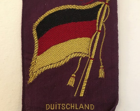 Vintage Dutch Turmac silk: Flag Germany