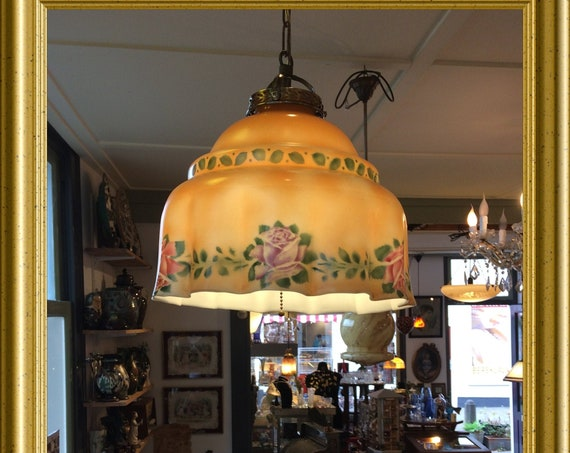 Local pick-up in Gouda only: antique lamp, shipping not available