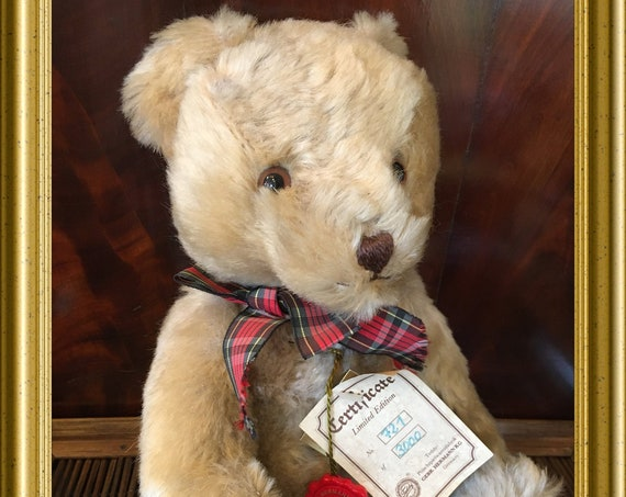Vintage Hermann teddy bear, limited edition