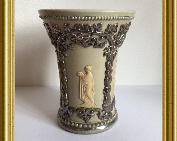 Antique small vase : Villeroy & Boch, Mettlach
