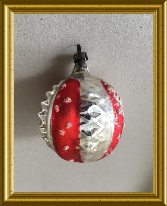 Vintage glass christmas ball, christmas ornament