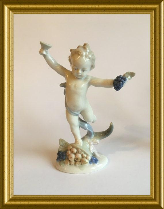 Vintage porcelain figurine: Metzler & Ortloff, autumn, seasons
