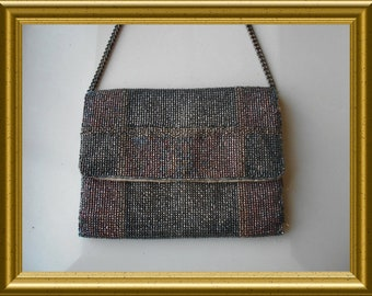 Art deco beaded purse / handbag