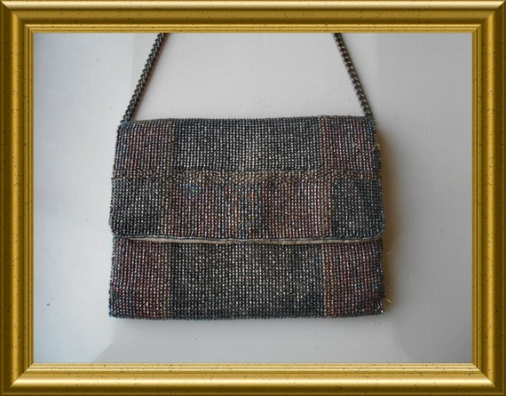 Art deco beaded purse / handbag