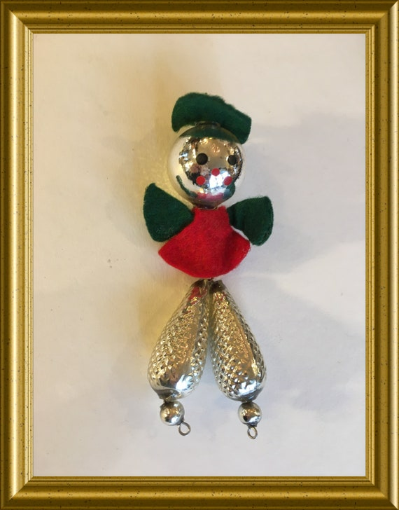 Vintage glass christmas ornament: doll