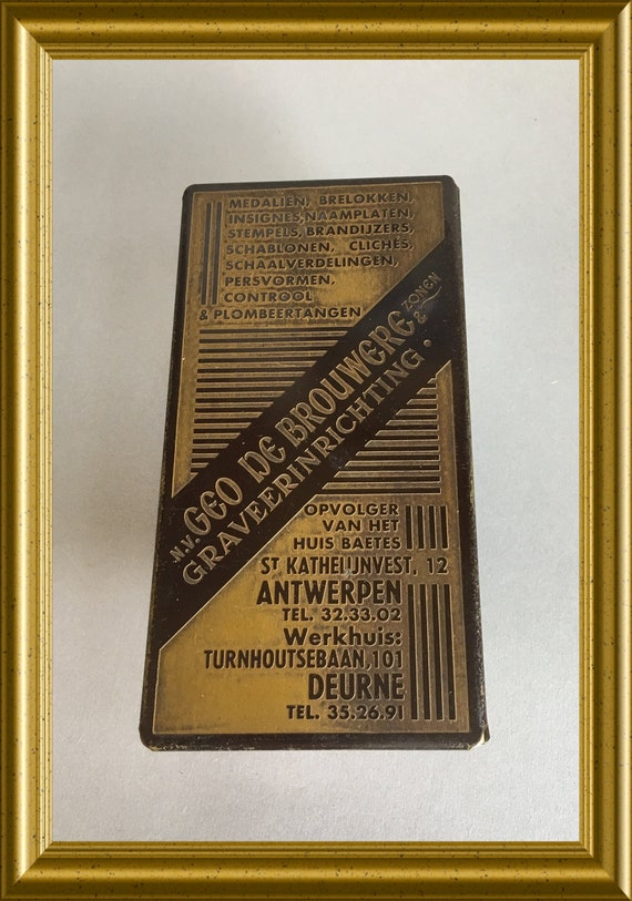Vintage ink blotter with advertisement