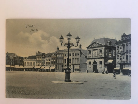 Antique Dutch postcard: Gouda 1906