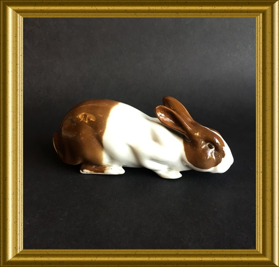 Vintage porcelain figurine: rabbit, Hollander/ Brabander