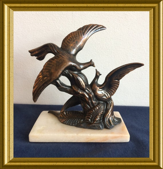 Small art deco figurine : birds
