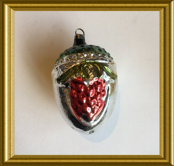 Another vintage glass christmas ornament