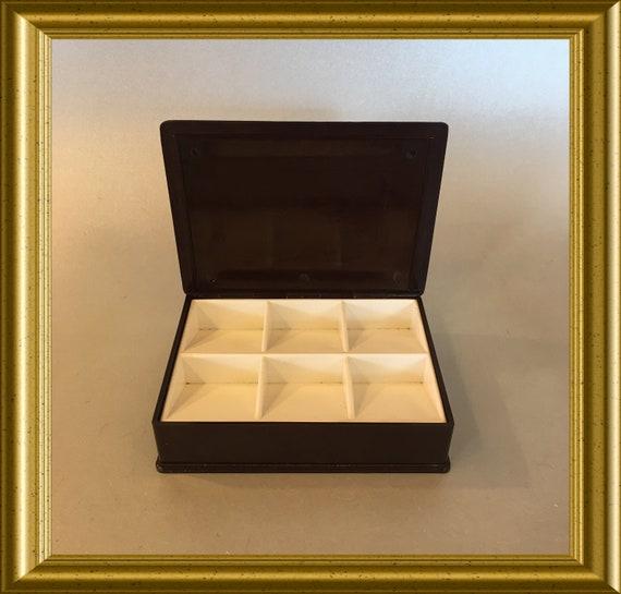 Vintage bakelite stamp box: Helit