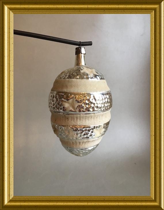Vintage large glass christmas ornament: stars