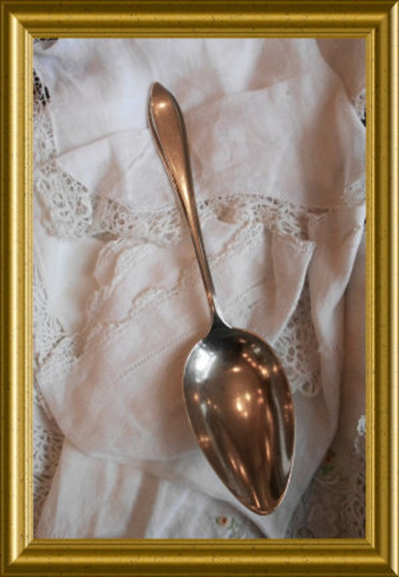 Vintage Dutch silver spoon: stork, The Hague