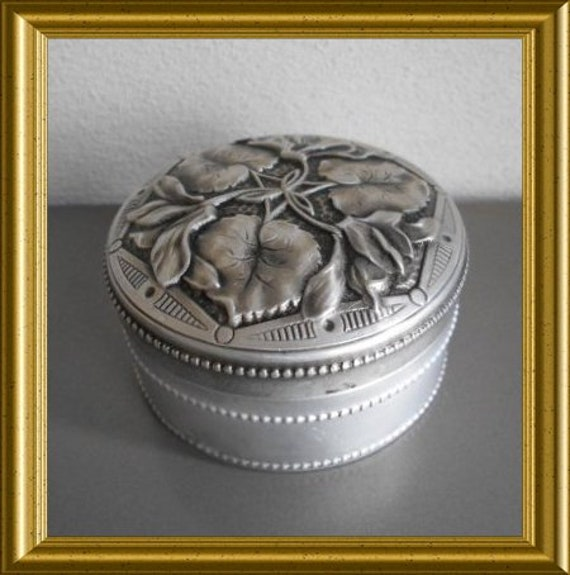 Beautiful art nouveau box, aluminum