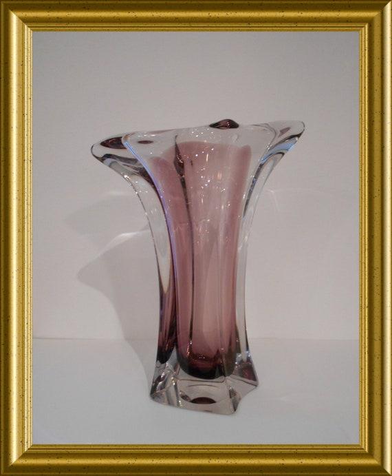 Beautiful French purple vase : marked Bayel France