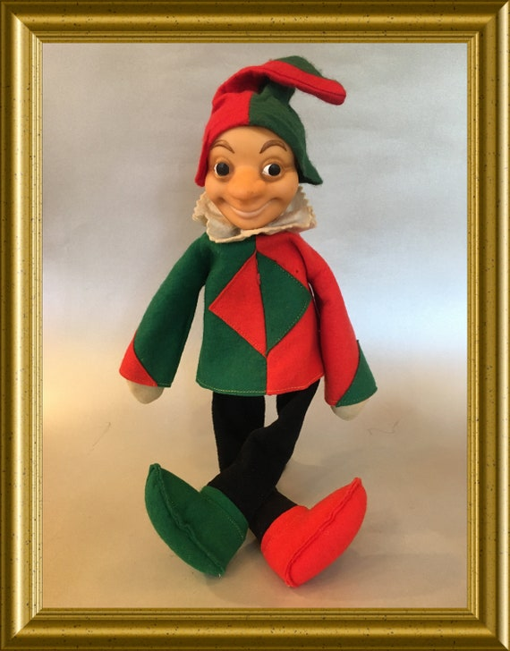 Vintage Steiff Harlequin floppy doll, clown boy