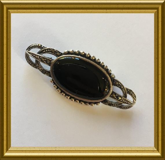 Vintage silver pin brooch