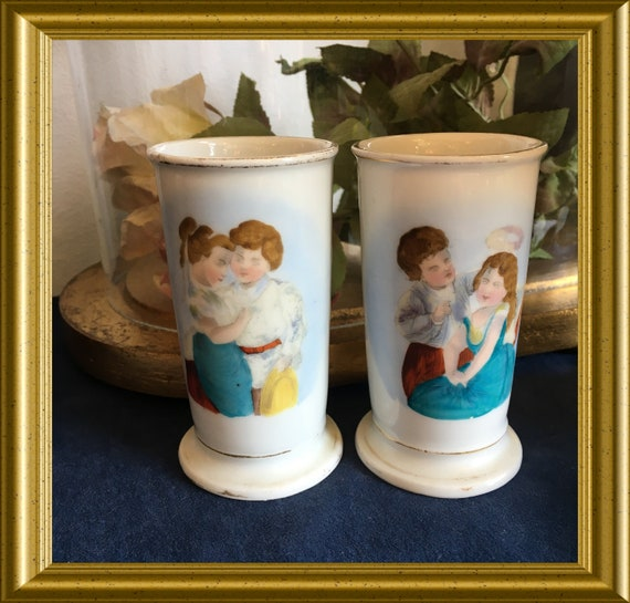 Two antique small porcelain vases