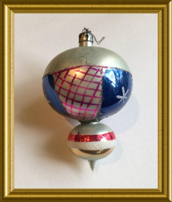 Vintage glass christmas ornament