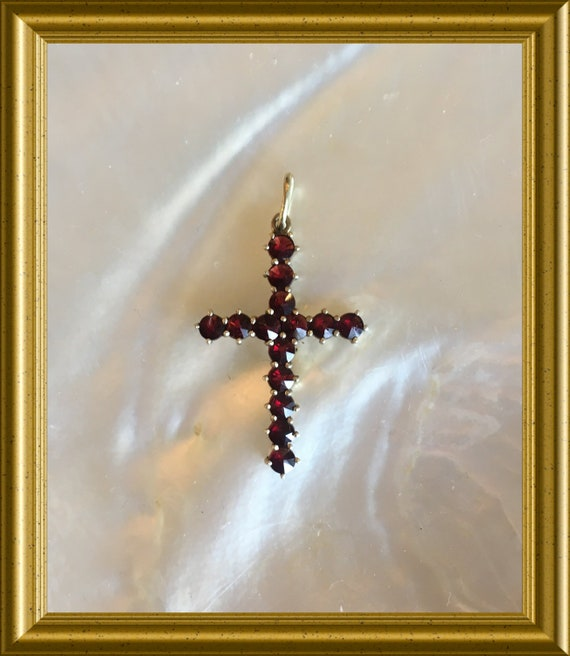 14 carat golden (585) pendant : cross