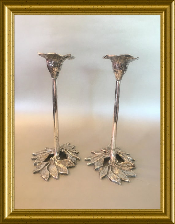 Two lovely candle holders, pair of candlesticks