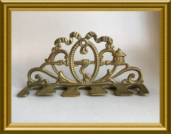 Vintage brass pipe rack
