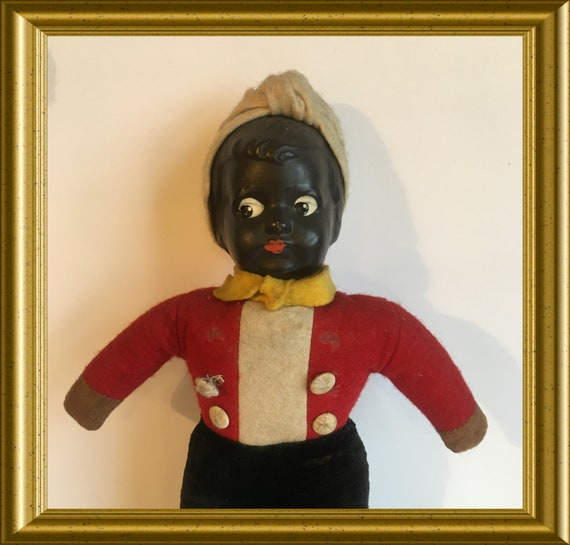 Vintage brown/ black doll