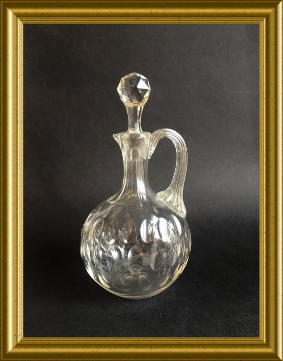 Antique cut glass decanter/ carafe