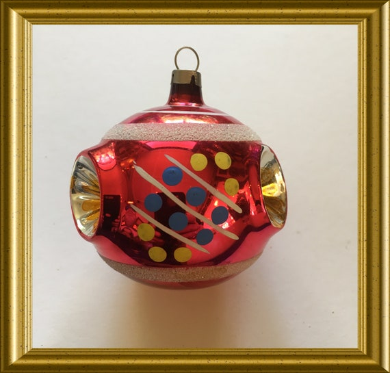 Vintage glass christmas ball, ornament