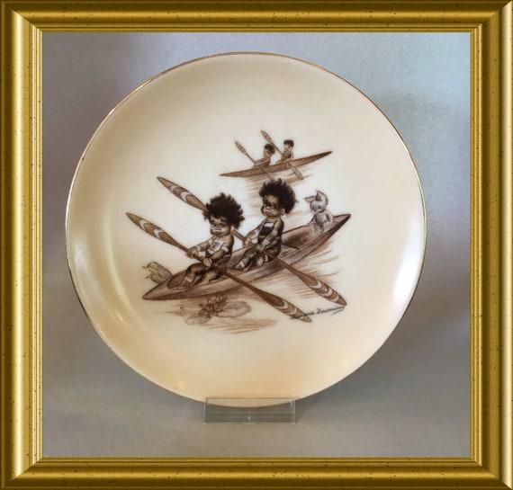 Vintage Brownie Downing wall plate (15.5 cm)